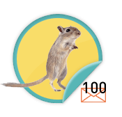 Gerbil Chirper - for those over-achievers who have sent 100 emails