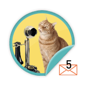 Cat Caller - for those fundraisers who have sent 5 emails